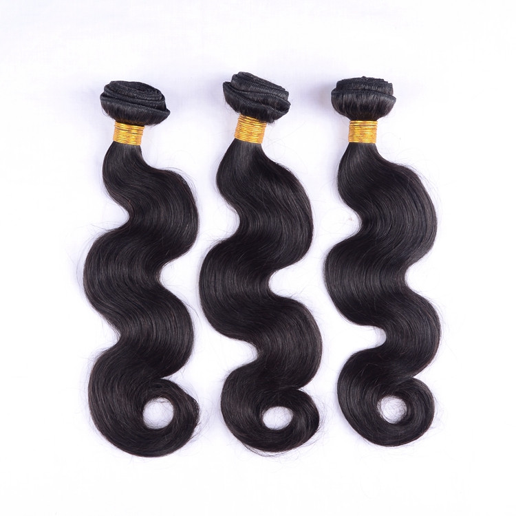 Haohao hotsale natural color body wave/straight/natural wave grade 9a virgin hair