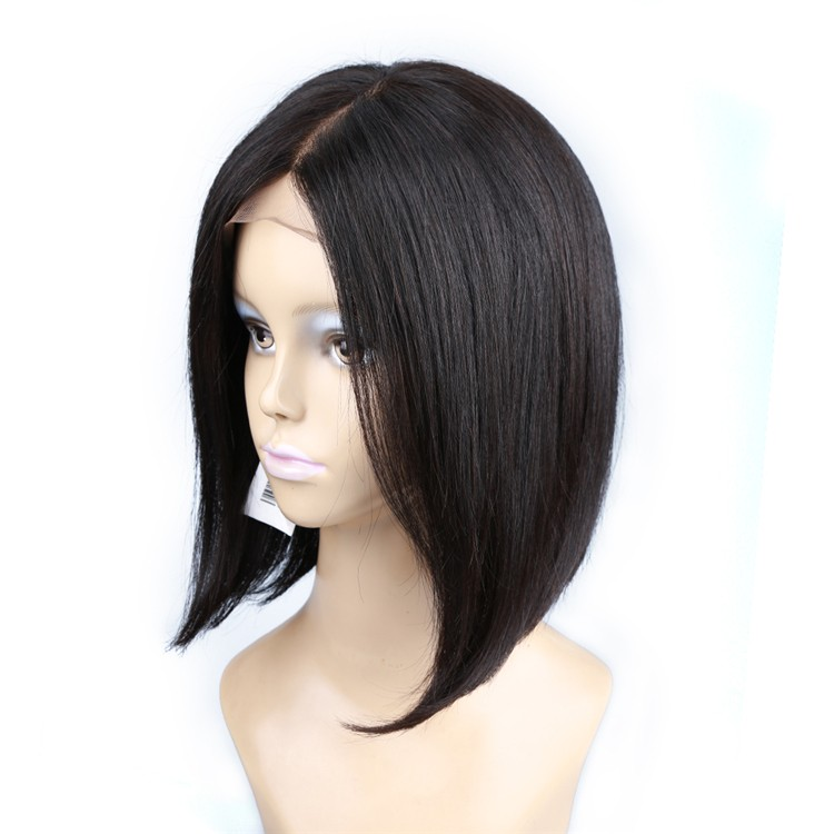 2016 new Bob bob hair style lace front wig 100% raw unprocessed remy virgin human hair lace front wig