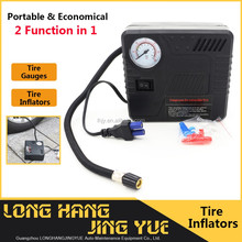 tyre inflator/deflator/portable air compressor pump muti function air compressor 12 v