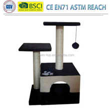 Top quality pet manufacturer stock luxury top sisal cat scratcher / cat tree