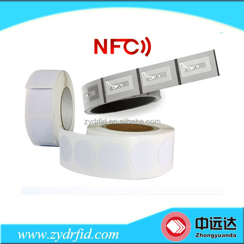 13.56MHz Cheap RFID Ntag213 Passive NFC Paper Sticker with memory 144 bytes
