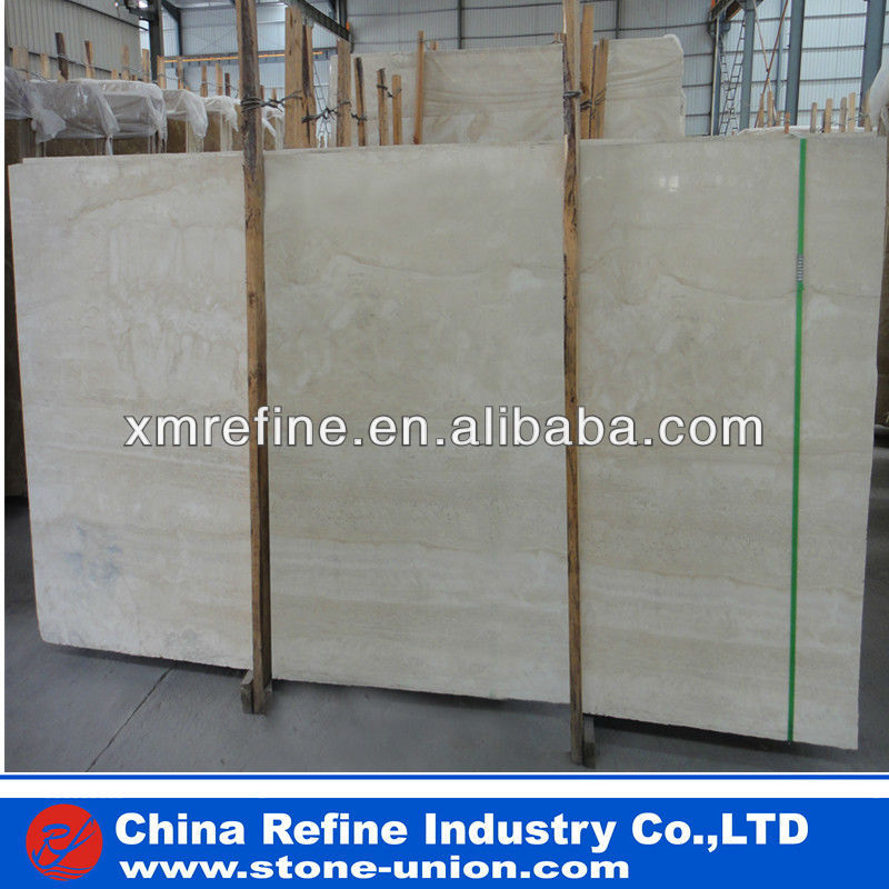 Roma cream travertine marble slab