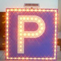 "Hot products solar led traffic warning sign ""p"" road signals for parking"