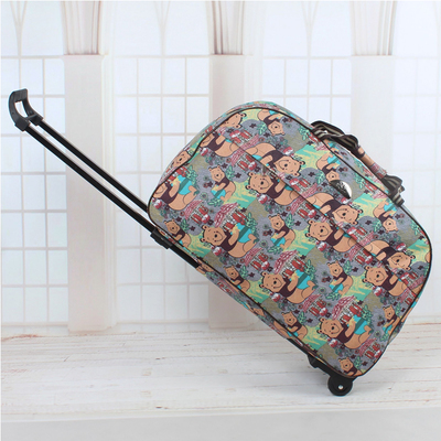 2016 Wheel Luggage Metal Trolley Bag Women'sTravel Bag Hand Trolley Unisex Bag Large Capacity Travel Suitcase Sac Board Chassis