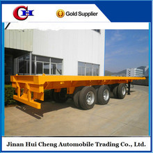 3 axles container 40 feet flatbed trailer