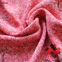 100% rayon crepe fabric with floral print