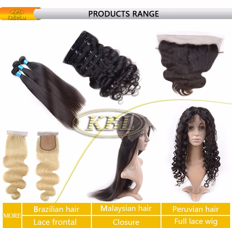 Wholesale factory price Brazilian clip in hair extensions for black women