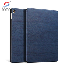 Hot product pc +leather wooden bulk cell phone case mobile for ipad mini 4 case