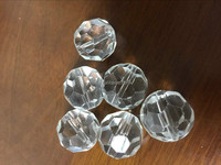 10mm pineapple type Clear crystal ball for optical fiber chandelier/curtain Pendant