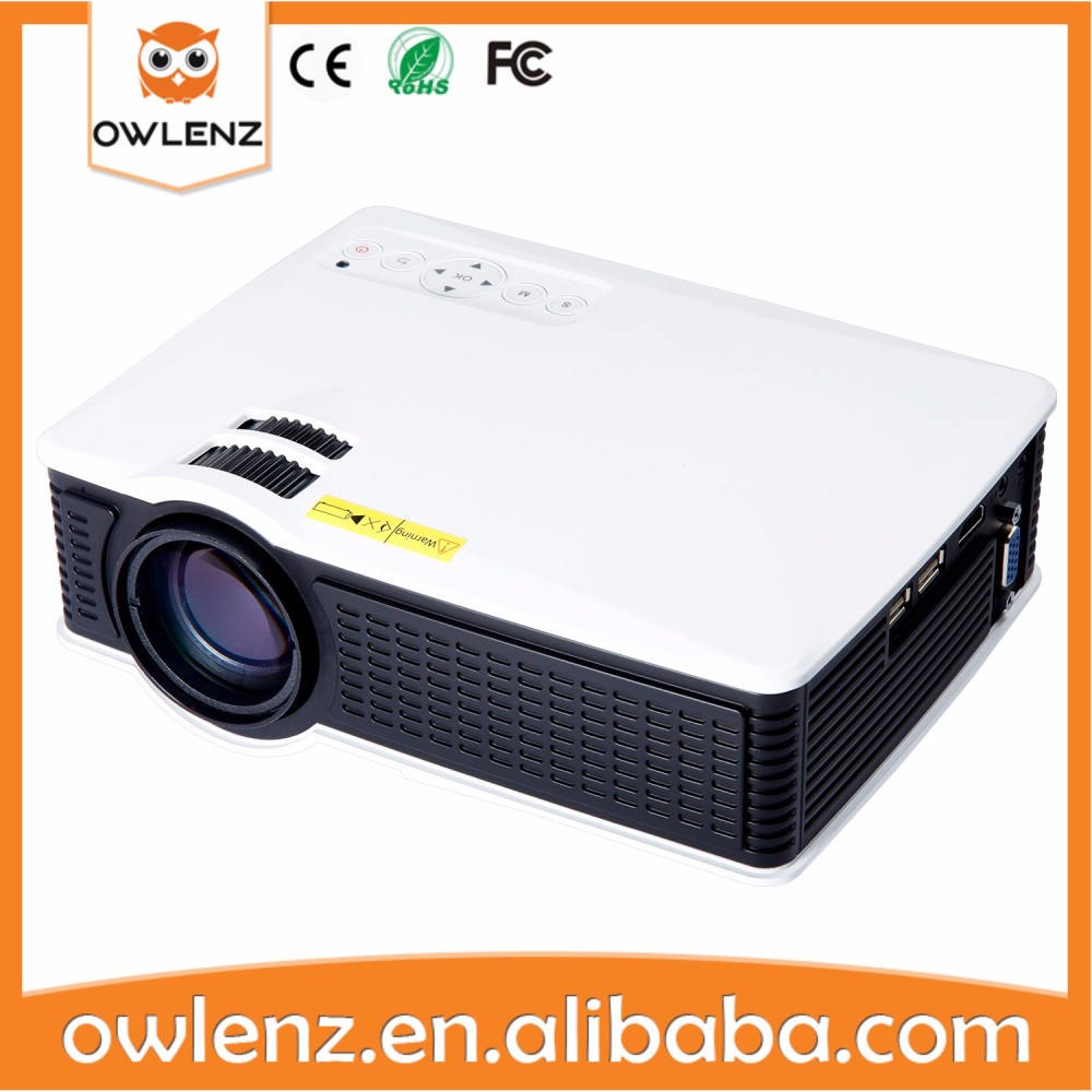 Home Projector 1500 Lumens LED Projector Support 1920x1080 With TV Port 3D MINI Beamer for Home Cinema