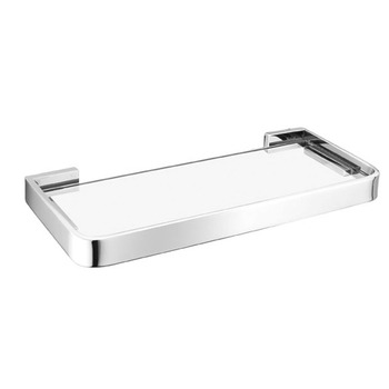mini 304 stainless steel bathroom glass shelf small size