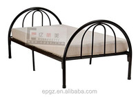 2016 Modern Cheap Low Height Metal Single Slat Frame Bed