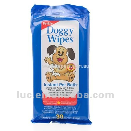 30pcs doggy wipes,pet barth