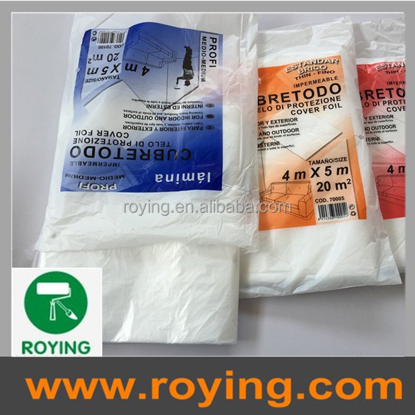 roying ldpehdpe drop sheet drop cloth spray paint protective plastic film price