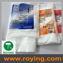 ROYING LDPE/HDPE drop sheet drop cloth spray paint protective plastic film price