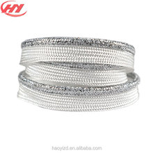Gray and White Polyester Webbing Piping Tape for Fashion Clothing for Lady