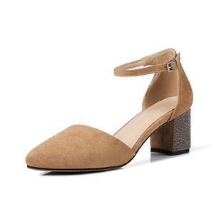 5e30db37050 wholesale D orsay pump shoes 6cm sparky square chunky heel ankle strap  chengdu women dress
