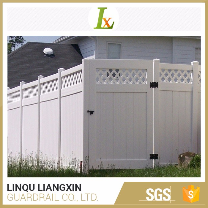 Strong Quality Inspection Privacy PVC Gate Fence