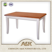 2016 Latest American Red Oak Furniture Wooden Dining Room Table