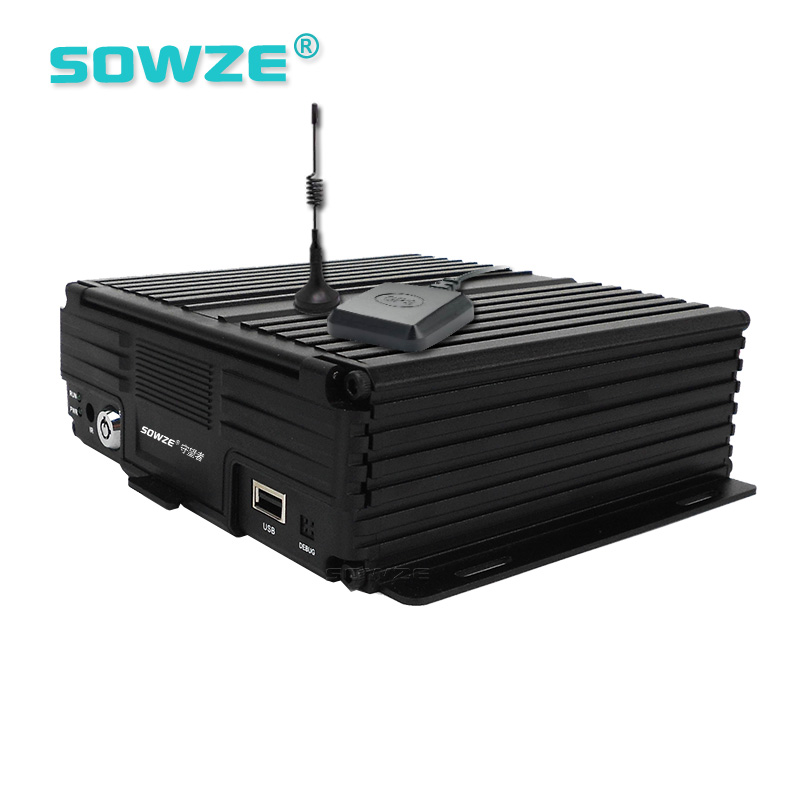 Double Storage Max 256G SD And 2TB HDD 8 Channels MDVR 4G GPS G-sensor For Bus