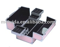 Mirrored Aluminum Cosmetic Case,Trolley Beauty Case
