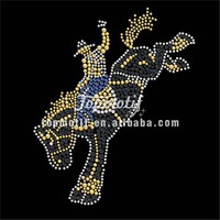 man sex with animal design cowboy and western shirts rhinestones transfer