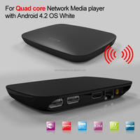 Quad 4-core tv hd media player Android 4.2.2 Full HD 1080P Smart TV Box XBMC Network Media Player 3D Wifi YOUTUBE Netflix Skype