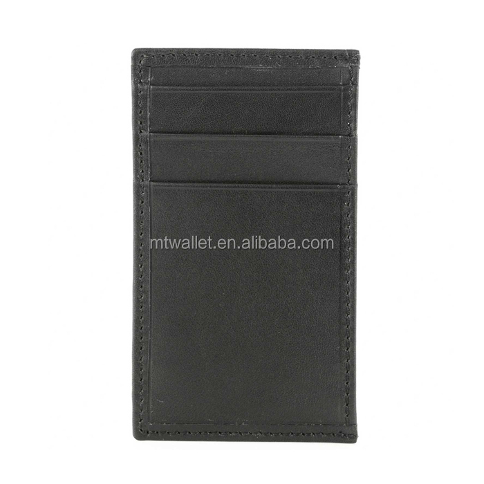 genuine leather ATM card holder /man's leather credit card case /Italian vegetable tanned leather business card pouch thin style