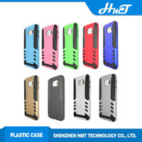 2 in 1 plastic with TPU shock proof cellphone case for samsung galaxy S6 ,rocket design mobile phone back cover for galaxy S6