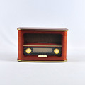 Wooden AM/FM Radio with Built-In Stereo Speaker