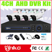 2016 New Arrival 4CH Security 1080P AHD DVR Kit Support 2*4TB HDD