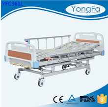 CE/ISO Approved Manufacturer 3 crank manual hospital bed