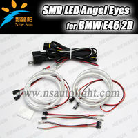 Green and Environmental Protection smd 3014 led chips angel eyes for bmw e46 2d,car accessories head/front/interior lights