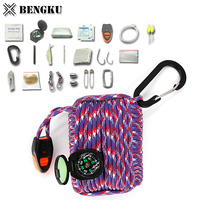 unique camping equipment kit survival gear list with compass