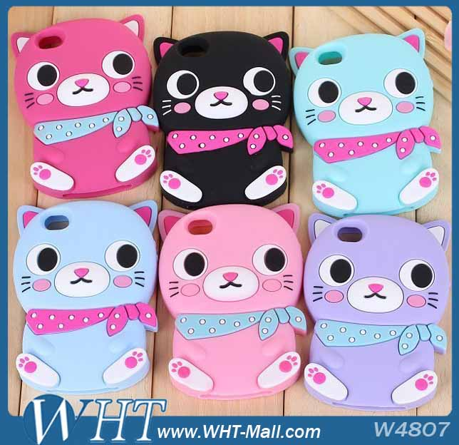 3D Cute Animal Design Silicon Case for iPhone 5S 5,for iPhone 5S Cover Case Wholesale