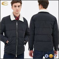 Faux Shearling Puffer Jacket Ecoach clothing manufacturer custom mens snow jacket wholesales