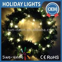 New Christmas Wreath lights lighted outdoor christmas wreaths