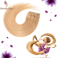 Best Selling Product Plantium Blonde 613# Color Full Head Clip in Straight Hair Snow White Color Virgin Human Hair Extension