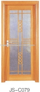 Clear Glass Inserts Wood Interior Doors