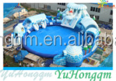 2016 giant inflatable frozen polar bear water amusement game adult slides water park inflatable play