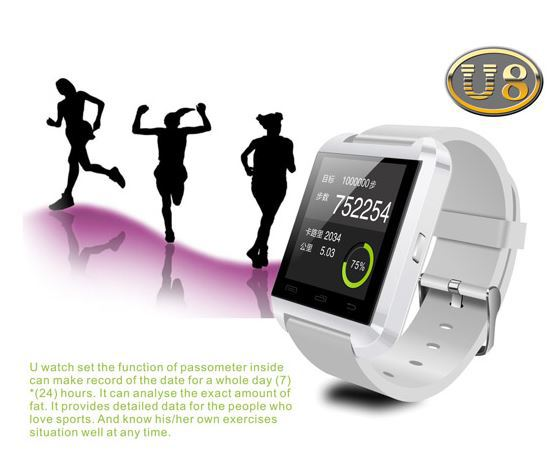 U8 U Sports Watch 1.48 Inch Bluetooth Smart Wrist Band Bracelet for android phone