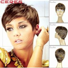 short bob wigs for black women high resistant Japanese fiber synthetic hair wig F color ombre 4/30