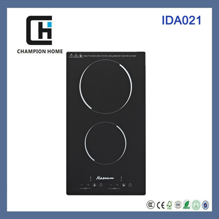 double burner induction cooker IDA021-a with built-in design and CE/ROHS