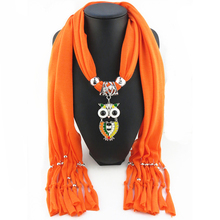 Lady charming chic dress decorations beaded tassels diy christmas scarf jewelry