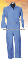 Disposable cheap men's 65/35 Cotton/polyester blue workers overall uniform