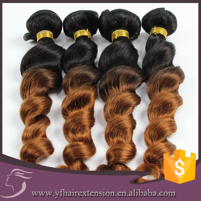 Guangzhou Factory Produce Loose Wave 1b 30 Colored Virgin Brazilian Hair Unprocessed From Brazil