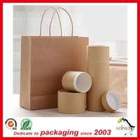 shenzhen port simple design convolute paper tubes round gift kraft paper box plain printing lowest price on sale 2015