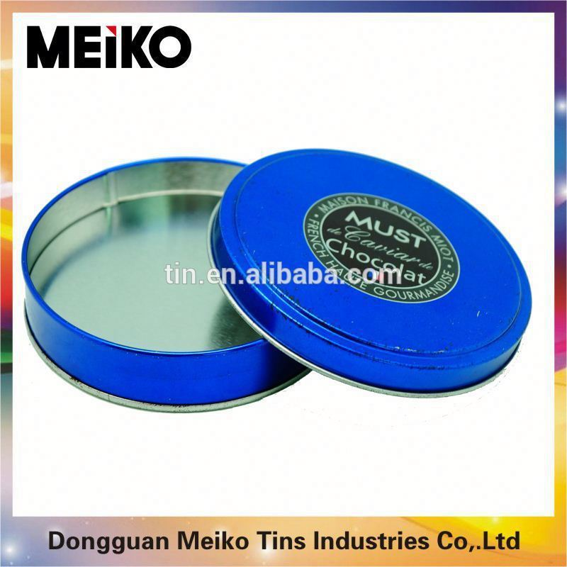 Custom printed round shape coffee can/tin box/metal box