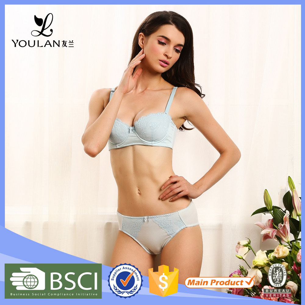 On Sale Fitness Elegant Lace Trim Women Bra And Pants