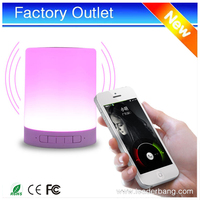 Easy carry LED lamp circular lamp style bluetooth speaker with 1200mah power bank